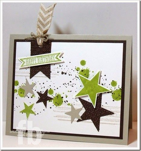 Happy Birthday Stars created by  Frances Byrne using stamps from SU. Inspired by a card created by Trish Myers