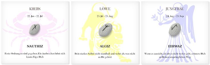 Runen Tageshoroskop 25.2.2017 #Sternzeichen #Runen #Horoskope #krebs #löwe #jungfrau