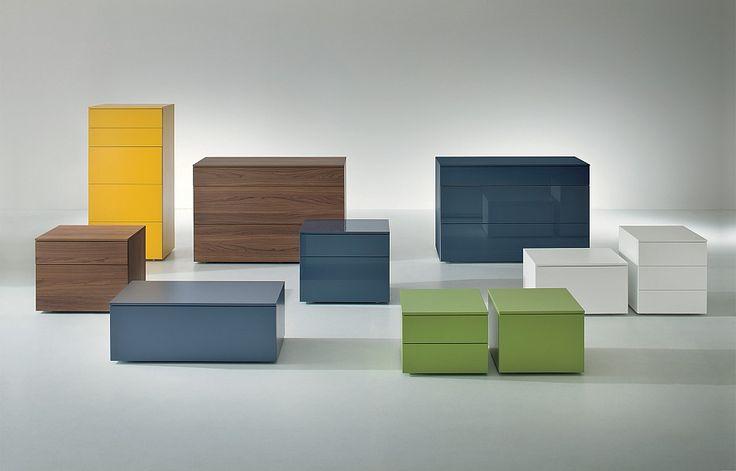 dallagnese italian bedside cabinet minimalist 3 lengths