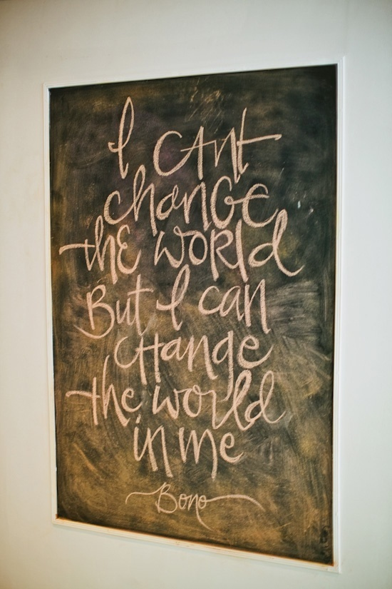 Inspirational Motto 93 - Change starts within. With your thoughts, spoken words, and finally, ACTIONS.