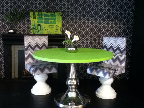 Dinning Set Monster High furniture Barbie by ItsPerfectlyPetite.  Table inspiration.