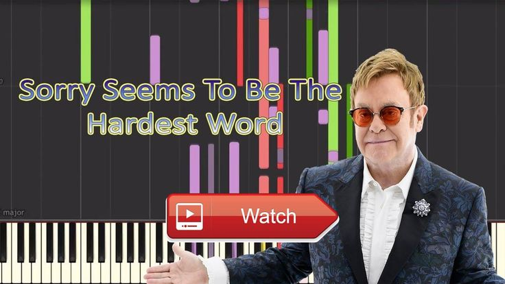Unknown Pianist Elton John Sorry Seems To Be The Hardest Word Piano Cover