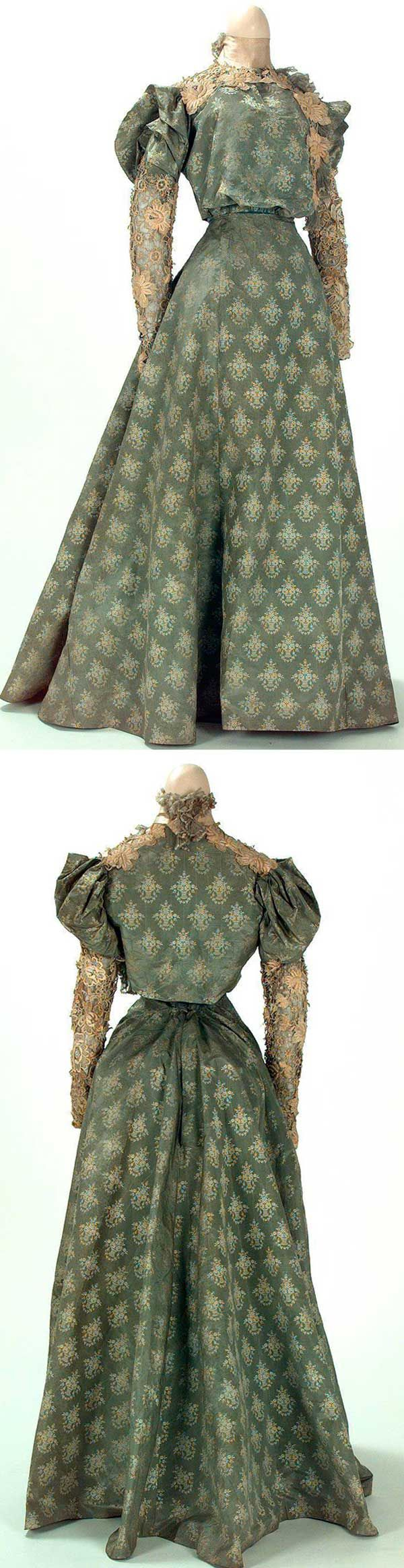 Dress, E. Honnet, Paris, ca. 1895-1900. Textile Museum & Documentation Center of Terrassa (IMATEX)