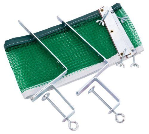 Champion Sports Screw-On Table Tennis Net and Post Set by Champion Sports. $23.48. The Screw-On Table Tennis Net from Champion Sports features edges that easily screw into place over the included metal clamps and makes a great recreational net. Set-up is quick and easy. Purchase includes one 64in L x 5in H table tennis net with two 1in durable metal posts.