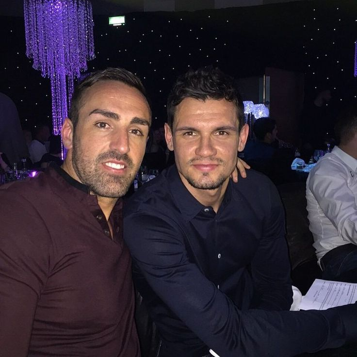 Jose Enrique and Dejan Lovren (pic via @jesanchez3 on Instagram)