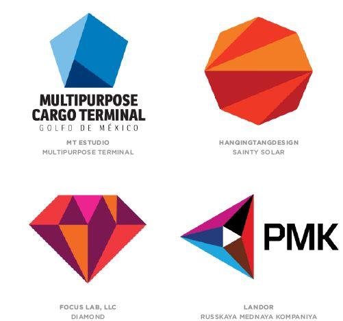 tendances logo    Les logos à facettes 3D