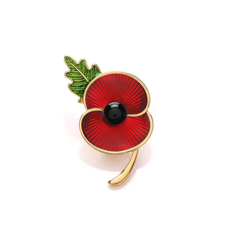 Remembrance Poppy - Charity Donation Gift - Enamelled Poppy and Peace Cross Pendant jCgXGggx7