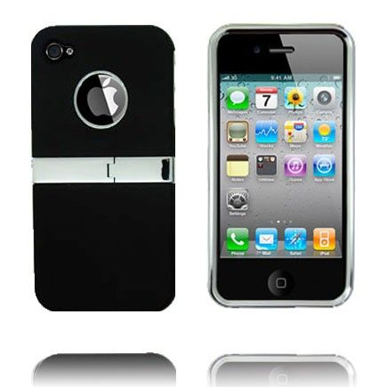 Kick-Stand Deksel (Sort) iPhone 4/4S Deksel