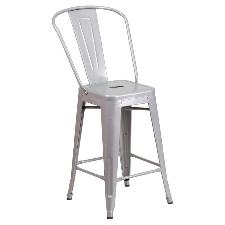 Flash Furniture Collins 24 in. Metal Counter Stool | from hayneedle.com