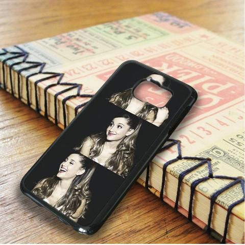 Ariana Grande Beautiful Smile Collage Samsung Galaxy S6 Edge Case