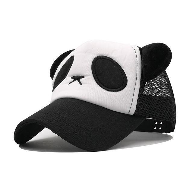 6f7a068a47f Kioninai 2017 Summer Panda Mesh Cap Sun Hat Shade Baseball Cap Women  Snapback Caps Gorras Hombre