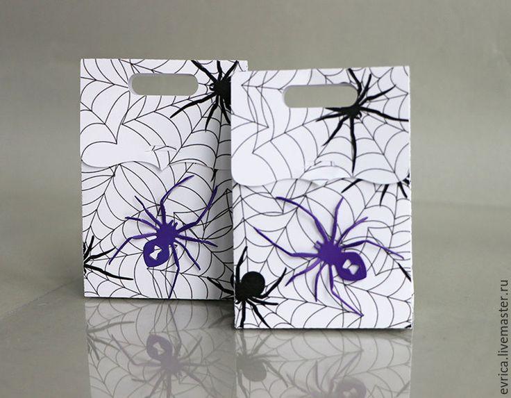 """Купить """"Хэллоуин"""" упаковка - черно-белый, упаковка, упаковка для подарка, подарок, подарок на любой случай"""