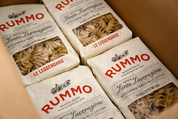 Rummo Italian pasta packaging design in Packaging