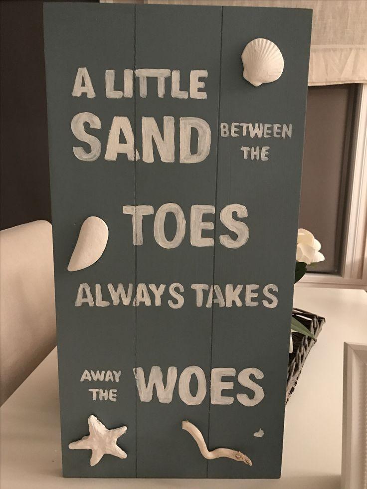 Beach sign, coastal decoration!