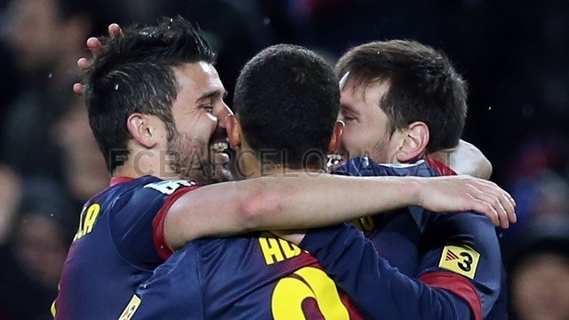 Villa, Alexis & Messi, FC Barcelona. | FC Barcelona 5-1 Osasuna. 2013-01-27.