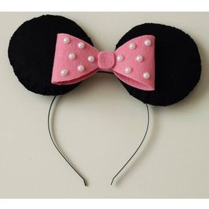 Keçe Minnie Mouse Taç * Felt Minnie Mouse craft