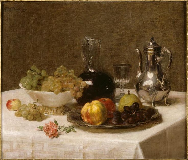 Fantin-Latour (1840-1926) : Coin de table (c. 1901). Epouse de Henri