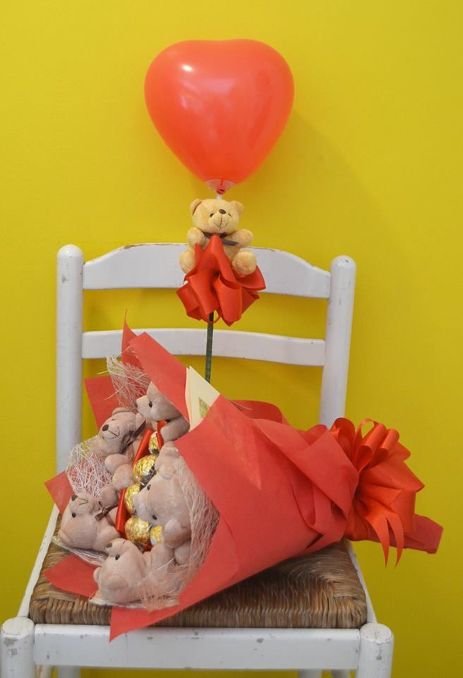 Chocolate Bouquet and Heart Balloon - perfect anniversary gift  www.FGDavao.com