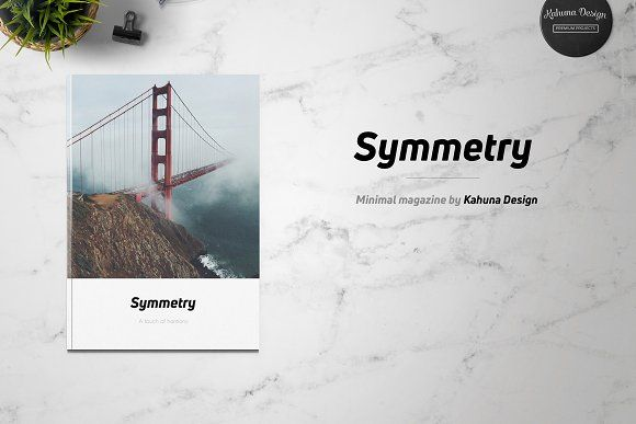 Symmetry Minimal Magazine by Kahuna Design on @creativemarket