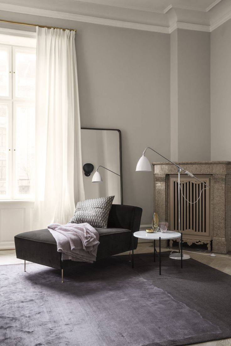 GUBI // Modern Line Sofa, TS Table and Bestlite BL4 Floor Lamp