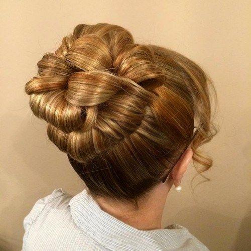 loopy bun formal hairstyle