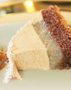 buche poire williams , caramel et speculos