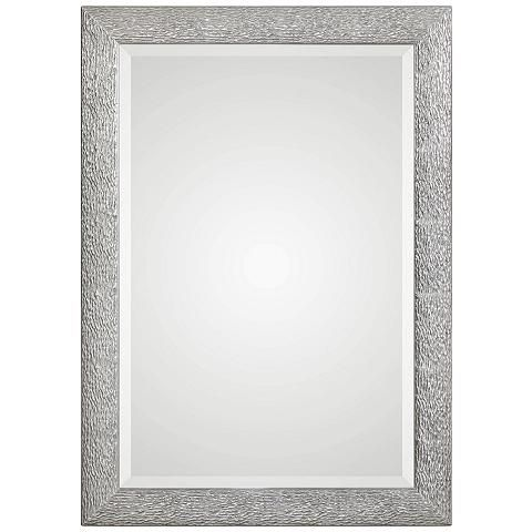 "Mossley Metallic Silver 29 1/2"" x 41 1/2"" Wall Mirror - #40R56 