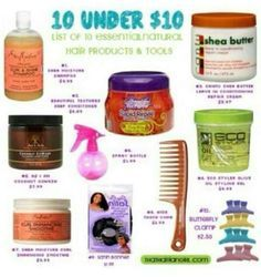 10 natural hair products under $10
