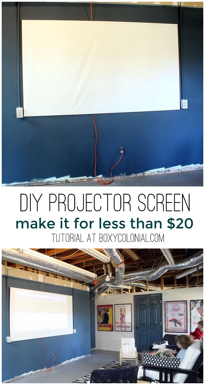 make this DIY projector screen for less than $20. Great if you want a project for your home without the cost. #projector #home