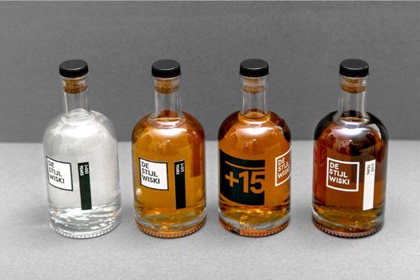De Stijl Wiski on Packaging Design Served