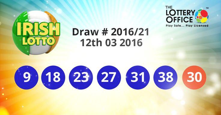 Irish Lotto winning numbers results are here. Next Jackpot: €2 million #lotto #lottery #loteria #LotteryResults #LotteryOffice
