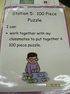 100 piece puzzle & other ideas  @ Elsa Koerner...I like this idea for 100th day of school :)