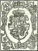 János Zsigmond czímere a «Tripartitum» 1565-iki debreczeni kiadásából.jpg