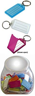 Key Tag With Paper Insert - 35 Jar Calendars & More  -  Real Estate Agent Supplies