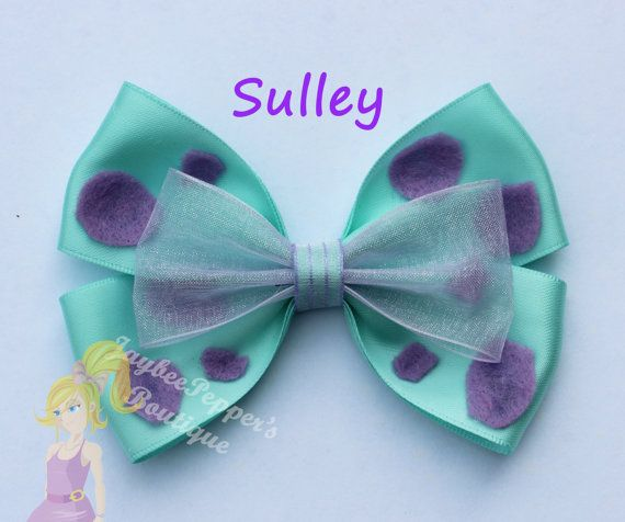 Sulley hair bow Monsters Inc hair bow hair accessories cute