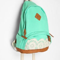 Gorgeous mint green and lace backpack from Urban Outfitters.