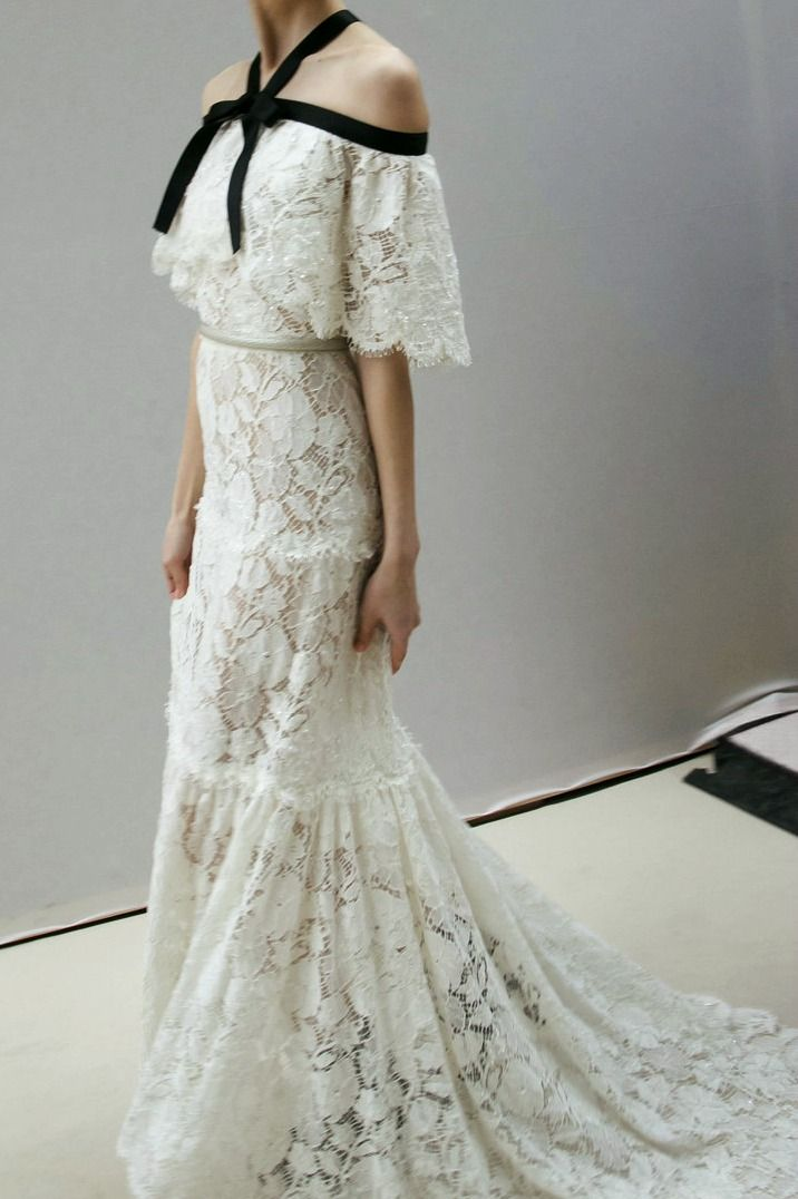 Chanel haute couture s/s 2013 backstage... Oooh... grandma's lace tablecloth in danger all across the land....