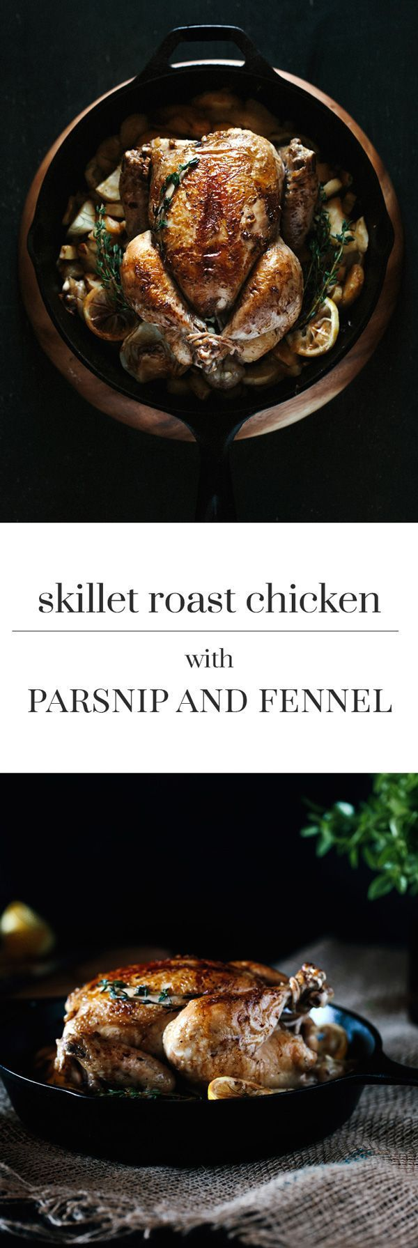 Skillet Roast Chicken with Parsnip and Fennel Recipe perfected with a technique I learned from America's Test Kitchen. Learn how to make flavorful and moist roasted chicken with this method.