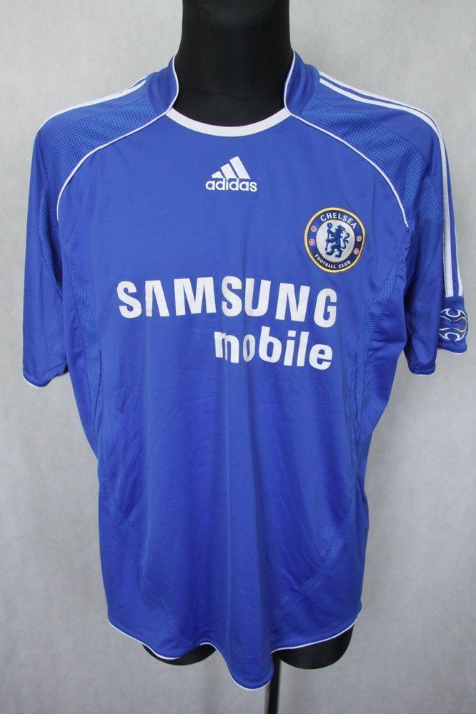 ADIDAS CHELSEA FC LONDON 2006 2007 2008 HOME JERSEY SHIRT TOP sz L LARGE   Adidas  167f5d869