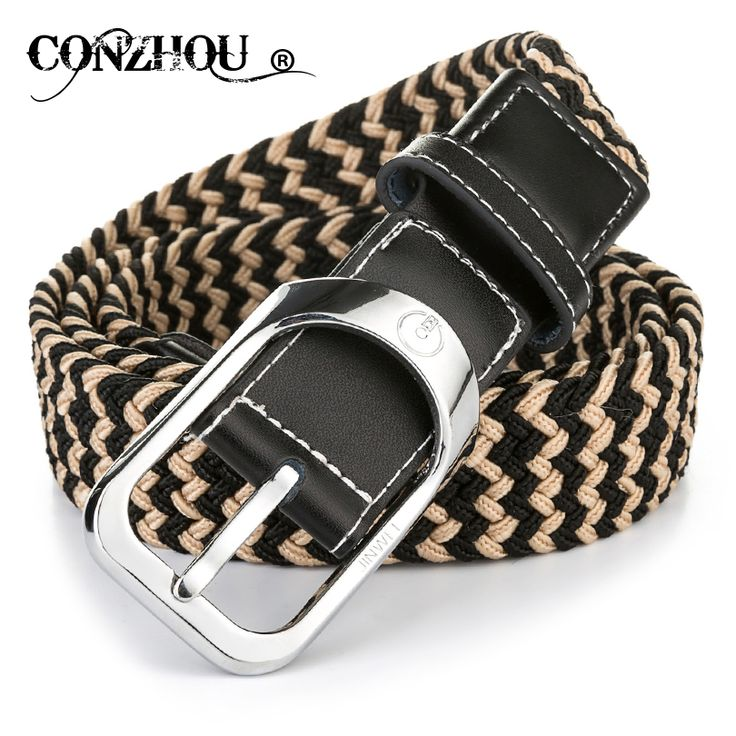 CONZHOU Fashion Knitting Ladies Canvas Pin Buckle Belt Women Elegent  Decorative Belts For Women Straps Ceinture Femme CP028 ee109f188d0