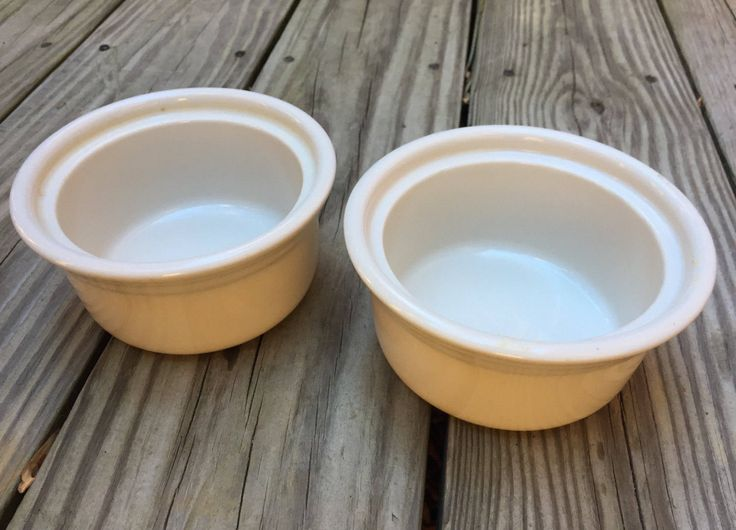 CIJ Syracuse China Custard Baking Cups 1979 Set of 2 11oz. Oven Microwave Safe by TreasureofMemories on Etsy