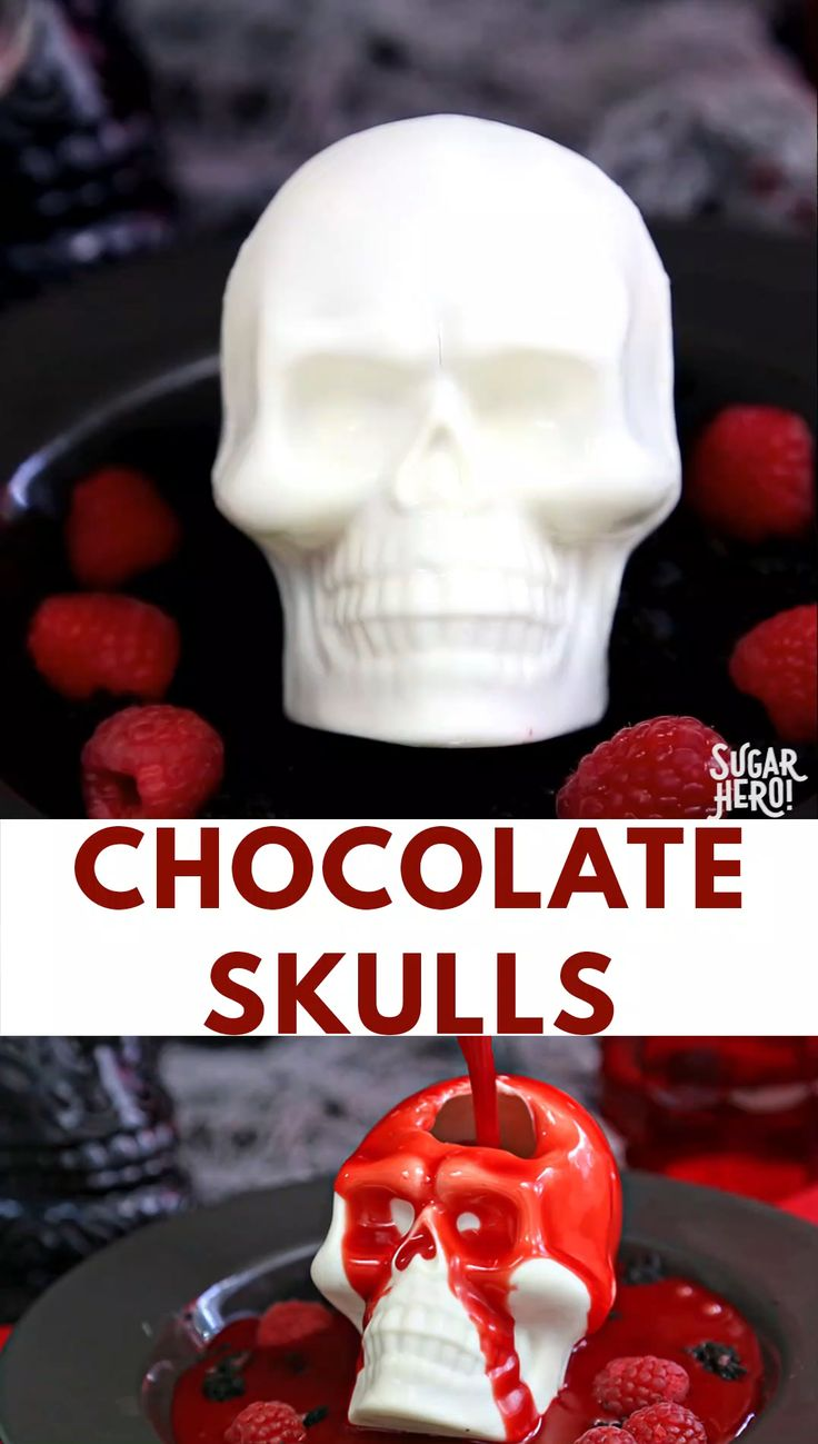 Melting Chocolate Skulls Video