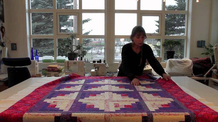Montering av quiltet teppe med tråklespray