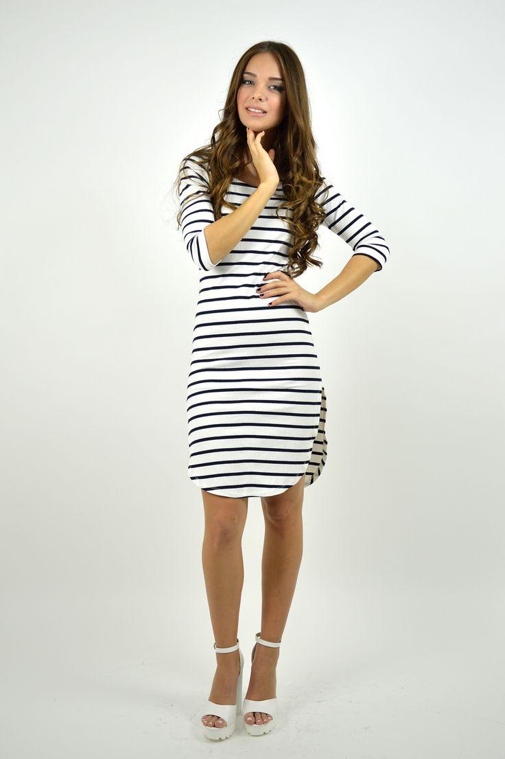 F8007 Φόρεμα Midi Ριπ Ρίγε - Decoro - Γυναικεία ρούχα, ανδρικά ρούχα, παπούτσια