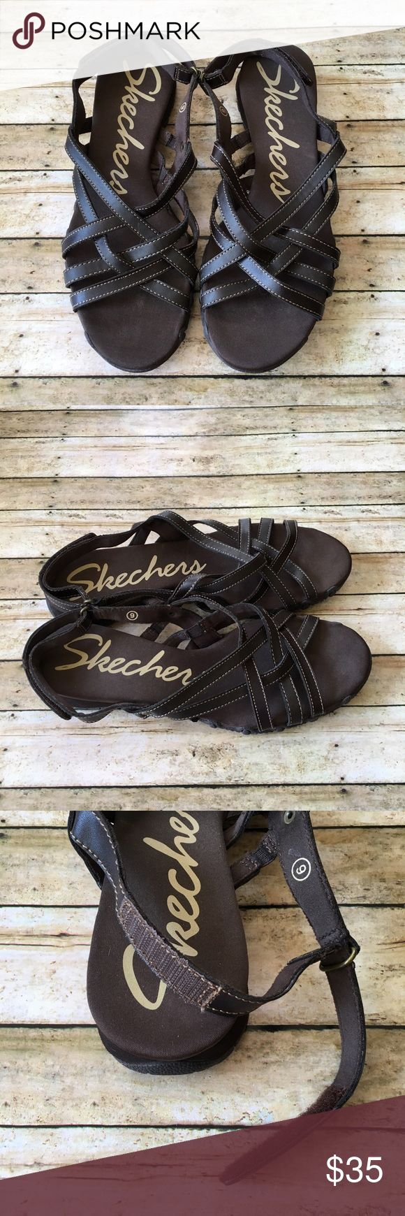 Skechers Bikers 'Dream Weaver' Fisherman Sandals Skechers Bikers 'Dream Weaver' Fisherman Sandals. SZ 9. Dark Brown leather. Adjustable heel strap. Rubber sole. Excellent Used Condition. Skechers Shoes Sandals
