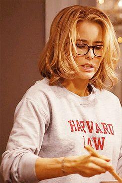 "She has a fab Harvard Law sweatshirt, and rocks it. | 20 Reasons Elizabeth McCord from ""Madam Secretary"" is Flawless"