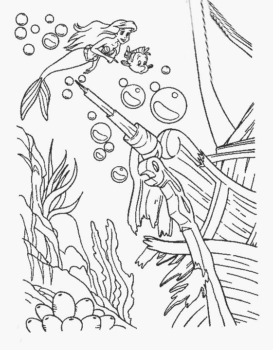 45 best Ariel, malá mořská víla images on Pinterest Coloring pages - fresh coloring pages disney little mermaid