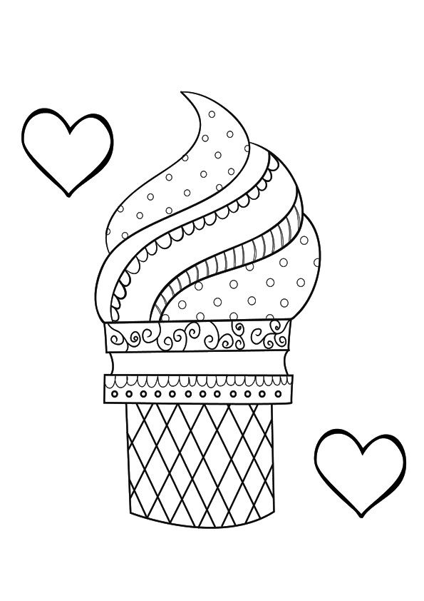 Coloring Page Ice Cream Coloring Pages Cool Coloring Pages Coloring Pages