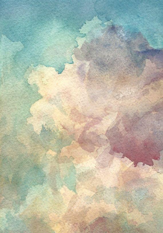 Sky study in watercolour.