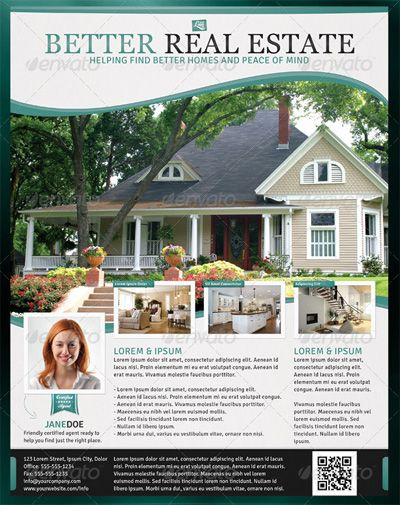 Best Real Estate Ads Images On   Flyer Design Real